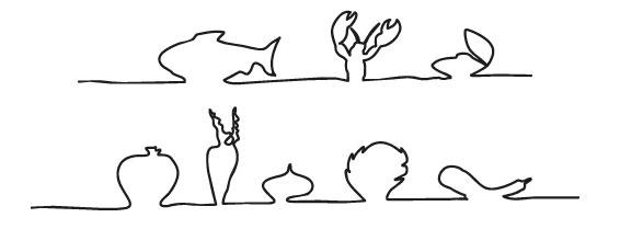 Grafik Fisch und Gemüse